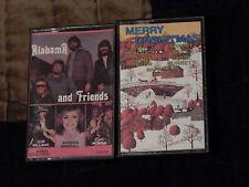 Alabama and Friends + Merry Christmas (Cassettes) Carol Burnett - Carl Perkins)