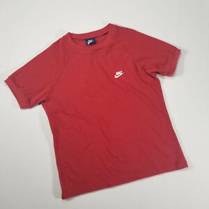 e20e0dd0 Vintage 80's Nike Blue Tag Perforated Mesh T Shirt LARGE Red felt ...