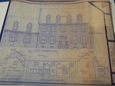 Complete 2-story 1980s HOUSE PLAN BLUEPRINTS 3,369sqft with 2-car garage