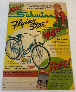 1961 SCHWINN FLYING STAR bicycle ad