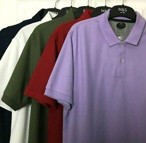 ex M/&S Mens Polo Shirt 100/% Cotton Slim Fit BNWOT Marks