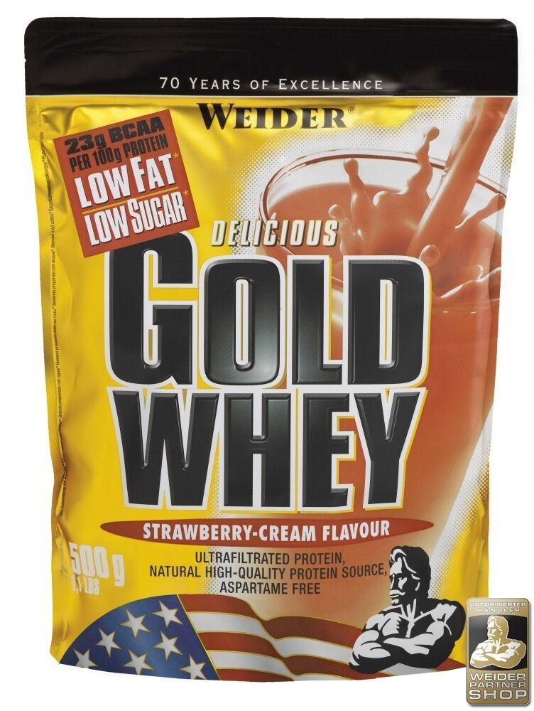 Weider Gold Whey 3 x 500 g Standbeutel + Dosierlöffel gratis (31,20 EUR/ 1000 g)