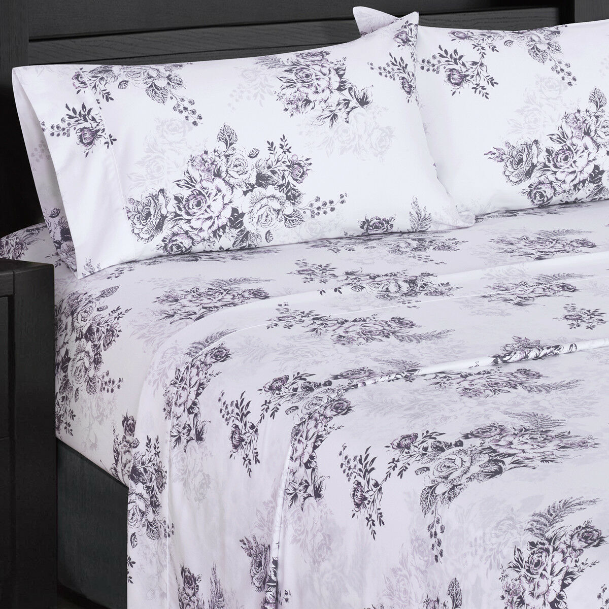 Luxury Flowery Printed Bally 300 Thread count 100% Combed Cotton Sheet Set
