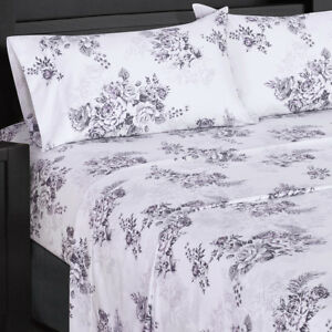Details About Luxury Flowery Printed Bally 300 Thread Count 100 Combed Cotton Sheet Set
