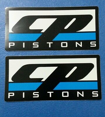 "CP PISTONS RACING DECALS STICKERS TOOLBOX SIZE 5 5//8/""  X 2 5//8/"""