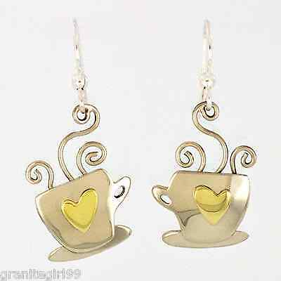 LUV LATTE Coffee Earrings Far Fetched Mima Oly Jewelry Fair Trade Taxco Silver