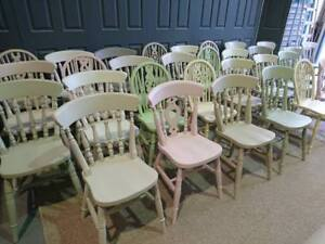 Image Is Loading Farmhouse Kitchen Dining Vintage Shabby Chic Painted Chairs