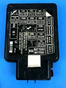 B15 99-00 HONDA CIVIC EK EK4 EK9 ENGINE BAY FUSE BOX LID COVER BLACK S01-A0  OEM   eBay   99 Honda Civic Fuse Box      eBay
