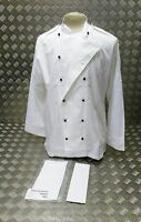 Genuine British Royal Navy Chefs Whites Top Neckerchief & Hat Set - All Sizes