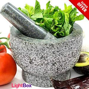 TEJOLOTE-Stone-Granite-Mortar-amp-Pestle-Molcajete-Guacamole-Mexican-Herbs-Spices