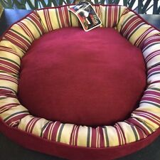 Scruffs Pet Bed Ruby Red Donut Round Dog Cat Small Machine Washable