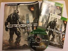 XBOX 360 CRYSIS 2 / II GAME COMPLETE + BRADY STRATEGY GUIDE