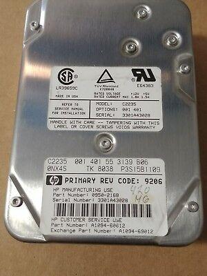 """55 3139 B06 HEWLETT PACKARD Hard Drive 401 001 HP C2235 S 422MB 3.5/""""//HH SCSI"""