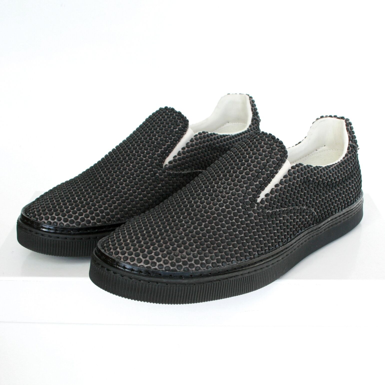 MAISON MARTIN MARGIELA rubber dot covered slip-on trainers sneakers shoes 39 NEW