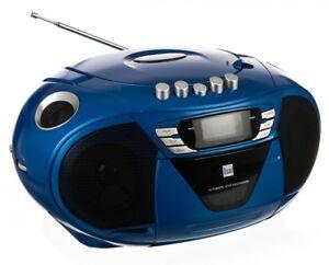 lettore-cd-mp3-CD-con-vano-della-cassetta-FM-Radio-e-Aux-In-DUAL-P68-Blu