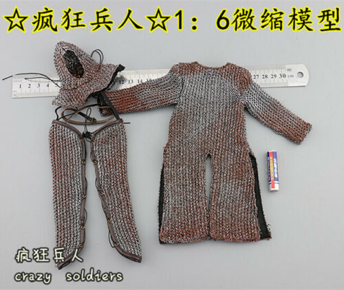 Hospital knight Chainmail Suit for COOMODEL SE057//058 1//6 Scale Action Figure