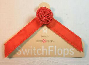 Lindsay-Phillips-SwitchFlops-7-8-Medium-Interchangeable-Straps-Orange