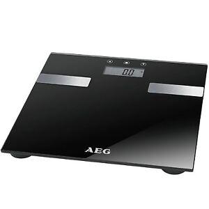 AEG-PW-5644-Schwarz-7in1-Personenwaage-Gewichtswaage-Analyse-Waage-bis-180kg