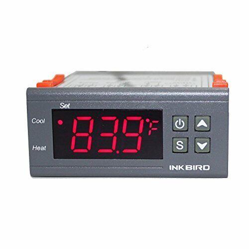 Inkbird ITC-1000 Double Relai 220v Thermostat avec Sonde,Refroidissement et Chau
