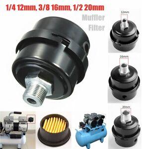 16mm Black Air Filter Filter Silencer Muffler Air Compressor Pneumatic Supply OI