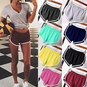 AU-Women-Summer-Pants-Sports-Shorts-Gym-Workout-Waistband-Skinny-Yoga-Short