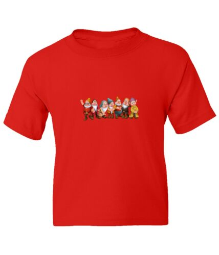 Snow White Seven Dwarfs Kid Girl Boy Youth Unisex Crew Neck Short Top T-Shirt