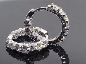4-50-CT-Large-Diamond-Inside-Outside-Hoop-Earrings-in-14k-White-Gold-New