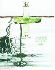 PUBLICITE ADVERTISING 096  2005  Hermès  parfum femme Un jardin sur le Nil