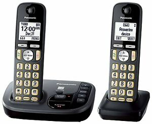 Panasonic KX-TGD222M DECT 6.0 Cordless Phone with Answering Machine - 2 Handsets
