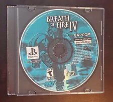 Breath of Fire IV 4 Sony Playstation 1 PS1 PSX Fast Shipping! Works Great! Rare!
