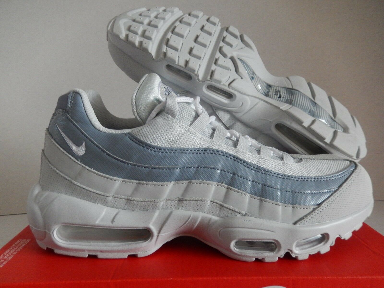 NIKE AIR MAX 95 ESSENTIAL PURE PLATINUM-WHITE SZ 11.5 [749766-036]