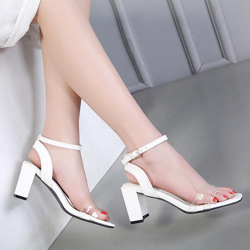 Sandali eleganti bianco 7 cm simil tacco quadrato comodi  simil cm pelle eleganti 9864 9759d7
