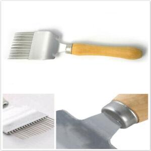 HN Beekeeping Tool Stainless Steel Bee Honey Hive Uncapping Fork Scraper Shovel