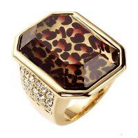 Park Lane wild Diamonds Ring W/ Leopard & Austrian Crystals - Orig. $87 - Sz 9