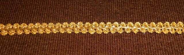 2m Borte  Spitze  Band  Brokat  10mm  goldfarbig 0,50 €/m