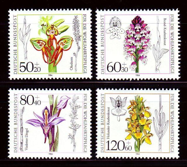 Germany Bund BRD 1984 Mi 1225/28 ** Blumen Flowers Flora Orchideen Orchids