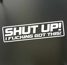 Shut up i f#cking got this sticker Funny  JDM Drift Honda lowered car window