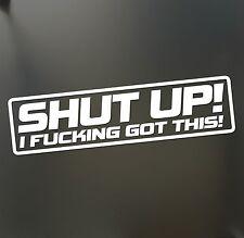 Shut up i f#cking got this sticker Funny  JDM Drift Honda lowered car window