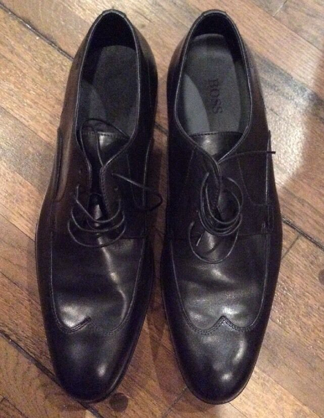 New without box  295 Boss Genuine Leather  black shoes Sz 8.5