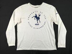 Nike-Indianapolis-Colts-Men-039-s-Long-Sleeve-Shirt-Multiple-Sizes-Used