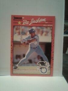 1990 NO Dot Period BO Jackson Donruss 2 ERRORS Card #650 Baseball KC Royals MINT