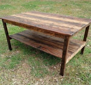 Image Is Loading Handmade Pallet Wood UpCycled Coffee Table Vintage Rustic