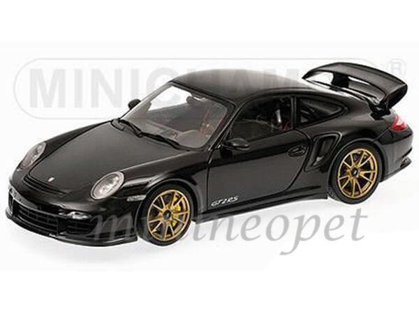 Minichamps 100-069402 2011 Porsche 911 997 GT2 RS 1 18 Negro Con Ruedas De Bronce