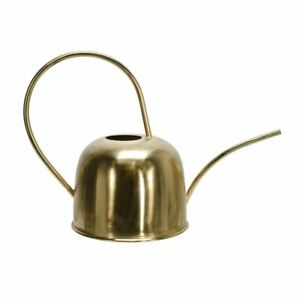 """Upscale & Modern Metal 11"""" Watering Can, Gold"""