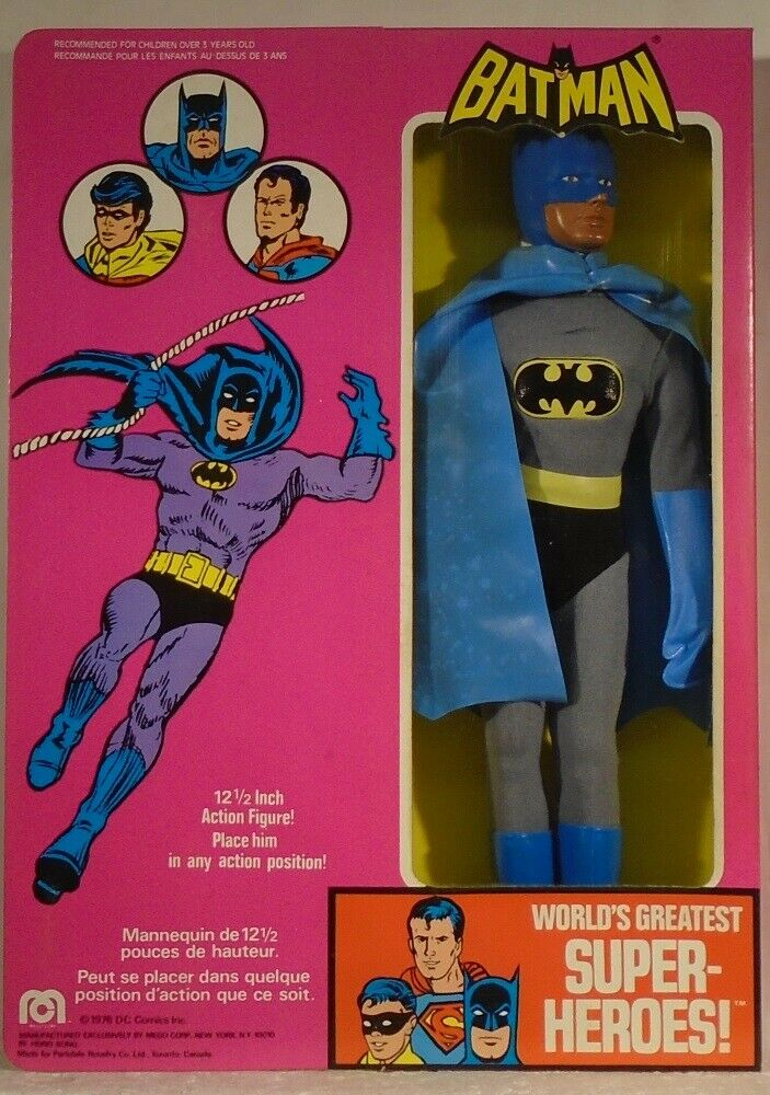 Mego Batman 12  Figure Non-Magnetic Mint In Box (Never Opened) Case Fresh DC