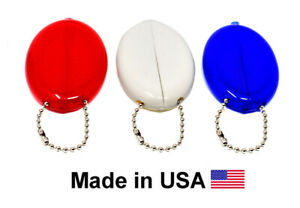 3 Oval Squeeze Coin Purses | Money Holder | Organizes small items | Made in USA