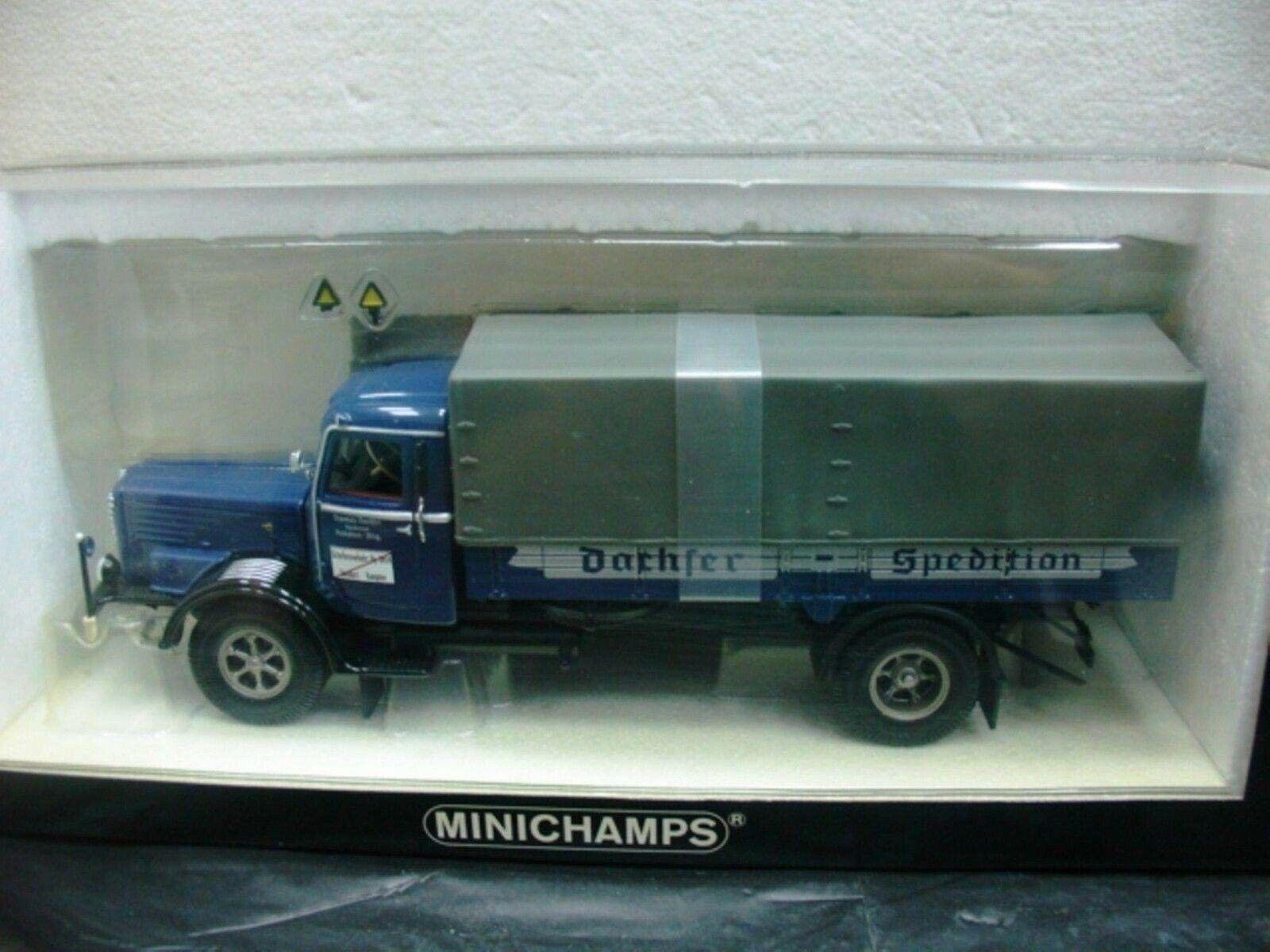 Wow extrêmeHommest rare en autovoiture Büssing 8000 S toile  camion Kempten 1 43 Minichamps  en soldes