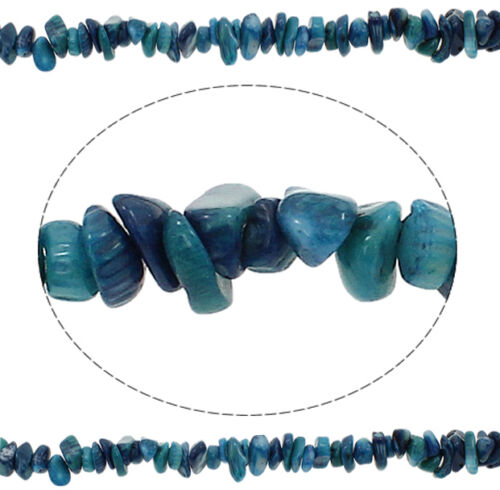 Schmuckstein Indische Sapphire Blau Halbedelstein für Schmuck Kette BEST G46