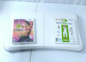 Nintendo Wii Fit Plus & Zumba Fitness with Balance Board