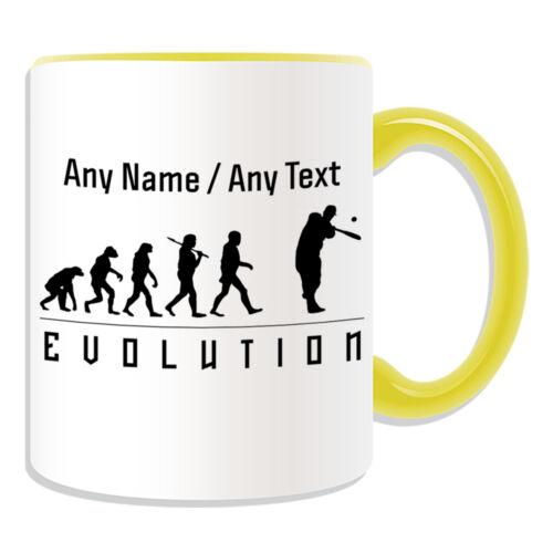 Personalised Gift Baseball Mug Money Box Cup Evolution Design Team Player Name